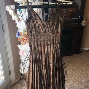 Mid length crinkle party dress